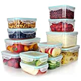 Vallo Plastic Food Containers with Lids for Food Storage - Safe for Dishwasher, Microwave, and...