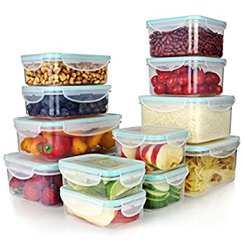 Vallo Plastic Food Containers with Lids for Food Storage - Safe for Dishwasher Microwave and Freezer - BPA Free Perfect for Meal Prep & Freezer [24 pc set]