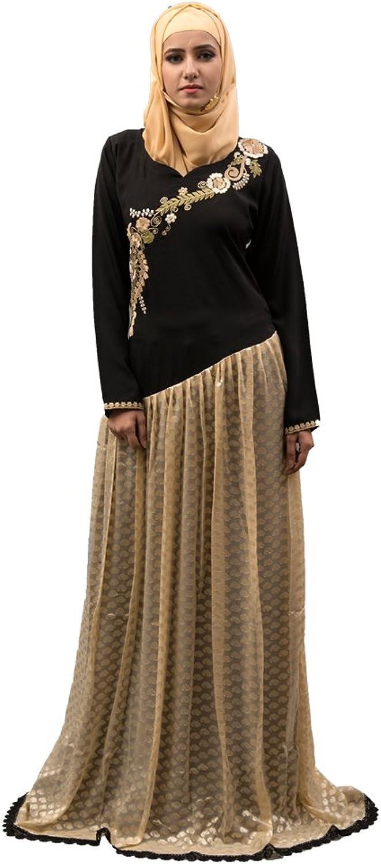 Kolkozy Fashion Women's Abaya Maxi Dress Black
