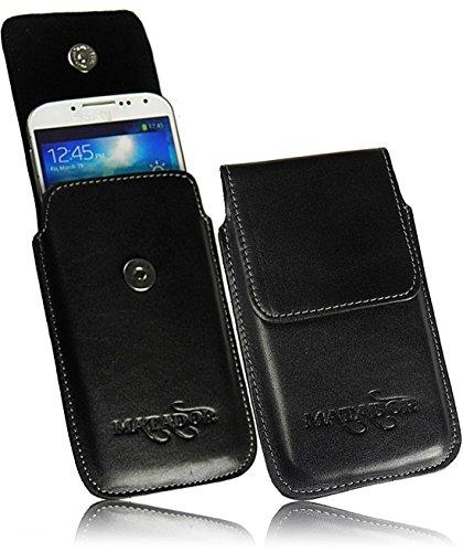 MATADOR Huawei MATE10 Pro/Mate 20 PRO Lederhülle Ledertasche Gürtelclip/Schlaufe Schwarz Vertikaltasche Ausziehfunktion