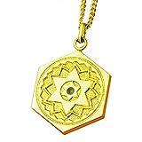 (ヒランヤ)ヒランヤペンダント マラカイト ゴールド 六芒星 ヘキサグラム 六角形 ダビデの星 開運 ヒランヤ・パワーグッズ (45)