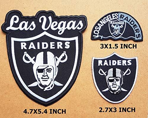 3 Raiders Las Vegas Patch Raiders Los Angeles Football Team Logo DIY Kleidung T-Shirt Jeans Biker Abzeichen Applikation Bügelbild