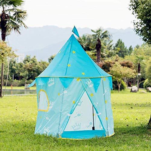 Hochwertiges Zelt Gewächshaus Zelt Kinder Princess Castle Mädchen-Spiel-Zelt, Kinderspielhaus Spielzeug for Mädchen-Kind-Kleinkinder mit Tragetasche, Indoor & Outdoor Nutzung (Color : Blue)