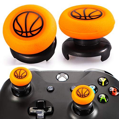 Playrealm FPS Thumbstick Extender & Drucken Gummi Silikon Griffabdeckung Thumb Grip Aufsätze 2 Sätze für Xbox One(Basketball)