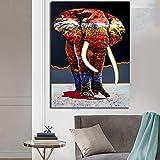 YuanMinglu Tiermalerei Elefant Leinwand Moderne Malerei Wandkunst Poster und Bild Home Decoration Rahmenlose Malerei50x75cm