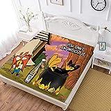 Looney Tunes - Sábana bajera ajustable, diseño de pato Daffy (6), suave y resistente a las arrugas, con bolsillo profundo elástico y redondo, funda de cama para niños y adultos, doble (47 x 203 cm)