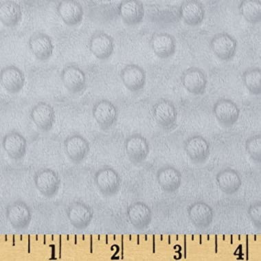 Shannon Fabrics Minky Cuddle Dimple Fabric by The Yard, Platinum