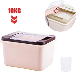 Womdee Rice Container Storage 10 KG/22 LBS, BPA Free Rice Container Airtight Food Container Cereal Grain Organizer Box Dry Food Flour Rice Dispenser Pet Food Storage for Storing Rice and More