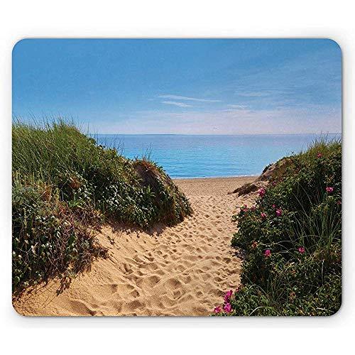 Massachusetts Mauspad, Cape Cod Hering Cove Beach in Boston Vereinigte Staaten von Amerika Touristic, Multicolor
