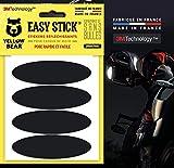 Yellow Bear Easy Ellipse - Juego de 4 pegatinas reflectantes para casco de moto, 3MTM Technology, color negro