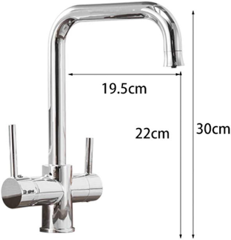 DDGYGG Wasserhahn Beige küchenwasser purifica wasserhahn mit gefiltertem wasser doppelauslauf küchenarmatur bronze waschbecken mischkran