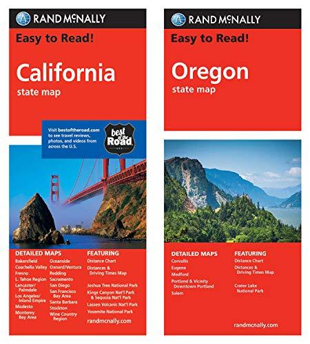 Rand McNally State Maps: California and Oregon (2 Maps)