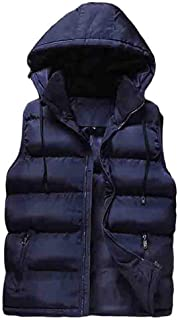 WanYangg Light Vest Gilet Mens Hooded Sleeveless Jacket Coat Body Warmer Outerwear Clothing Vests Puffer Casual Jackets Fr...