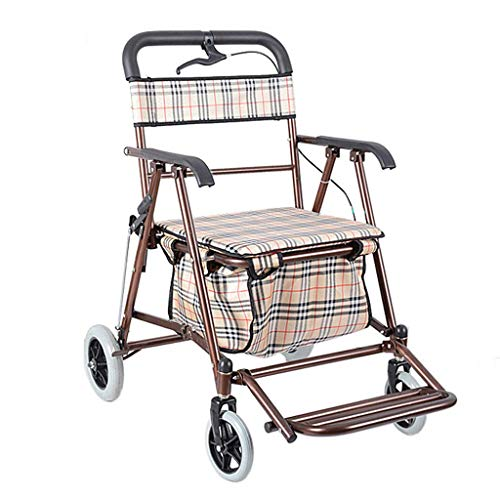 Z-SEAT Walker Shopping Basket Trolley Foldable with Brake Give The Elderly The Best Gift Crutch Old Man Shopping Cart 75kg Load