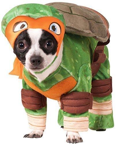 Fancy Me Haustier Hund Katze Teenage Mutant Ninja Turtles Halloween Film Cartoon Kostüm Kleid Outfit Kleidung Kleidung - Orange (Michaelangelo), Large