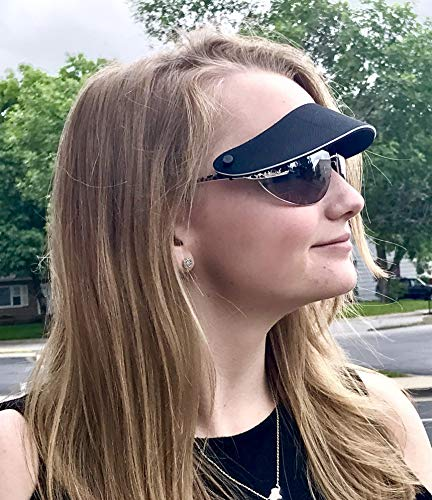 3-pak visor attaches to your sunglasses. No headache, strapless sun visor