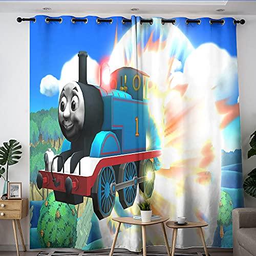 Ösenvorhänge Thomas die kleine Lokomotive, 1 Paar breite Verdunkelungsvorhänge & Wärmedämmungsvorhänge 106,7 x 160 cm