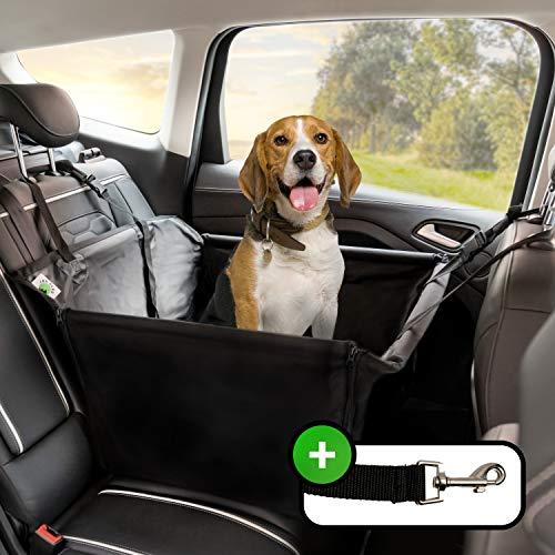Jon Berg Extra Stabiler Hunde Autositz - Premium Sitz für kleine und mittlere Hunde inkl. Sicherheitsgurt wasserdichter Hundeautositz für den Rücksitz