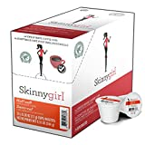 Skinnygirl Half Caff Coffee Pods for Keurig K Cups Brewers, Reduced Caffeine Medium Roast Coffee in Single Serve Cups, 24 Count