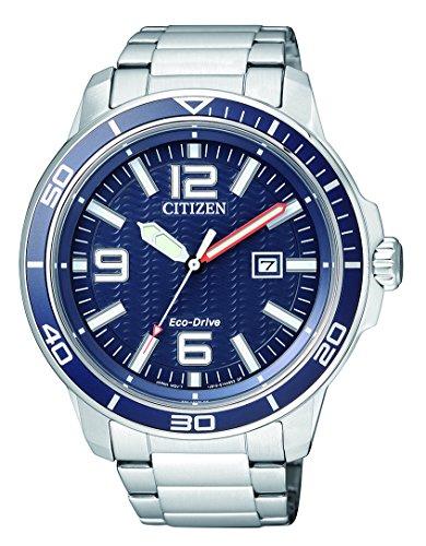 Citizen da uomo orologio da polso al quarzo acciaio inossidabile aw1520–51L
