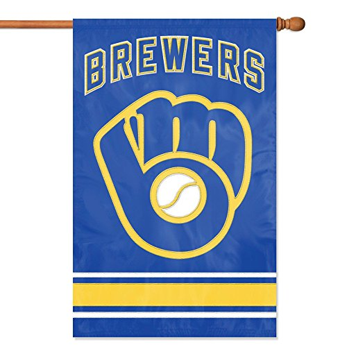 milwaukee brewers Party Animal MLB Milwaukee Brewers Applique Banner Flag