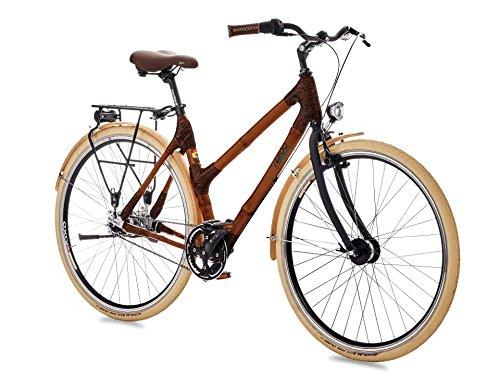 Bicicleta única hecha de bambú
