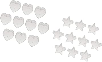 Prettyia 20pack Clear Tealight Cups Heart Star Candle Mold Wax Containers