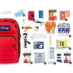 100% Satisfaction Guarantee - Built for 2 People for a 3 day period FOOD & WATER: 3600 Cal Food Bars (2), Water Pouches (24), Hydration Bag w/ Straw, Water Purification Tablets (20) FIRST AID & HYGIENE: 107 Piece Extended Life First Aid Kit, Hygiene ...
