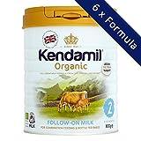 Leche de Continuación orgánica Kendamil, Etapa 2, 6-12 meses - (6x800g)
