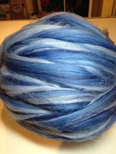 100 g Kammzug ++ Bandwolle ++ multicolor-Blautöne ++ zum Filzen, Spinnen, XXL-Stricken + EUR 7,00/100g