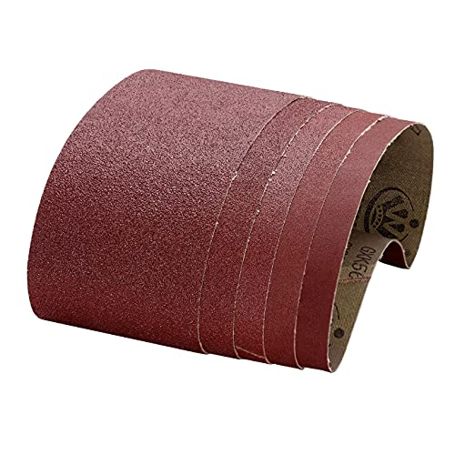 Bandas de lija 75x533 mm, 15 Piezas Mezcla Fina/Gruesa 80/120/150/240/400 Para Lijadora de Banda 🔥