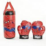Juego de guantes de boxeo inflables para colgar en bolsa de arena para niños, guantes de boxeo para niños, juego de sacos de arena, figuras de acción juguetes
