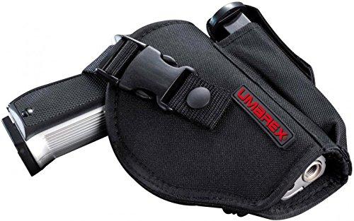 Umarex Unisex– Erwachsene schwarz Gürtelholster mit Magazintasche aus Nylon für mittelgroße Pistolen, mehrfarbig