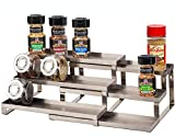 ALhom Spice Rack Organizer for Cabinet/Wall Mount/Countertop/Pantry - 3 Tier Expandable Spice Shelf...