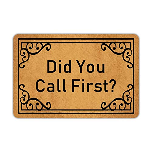 Door Mats Outside Did You Call First Door Mat Welcome Mat Rubber Non Slip Backing Funny Doormat...