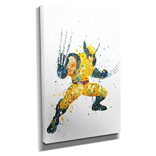 Nerdinger Adamantium Splash - Kunstdruck auf Leinwand (20x30 cm) zum Verschönern Ihrer Wohnung. Verschiedene Formate auf Echtholzrahmen. Höchste Qualität.