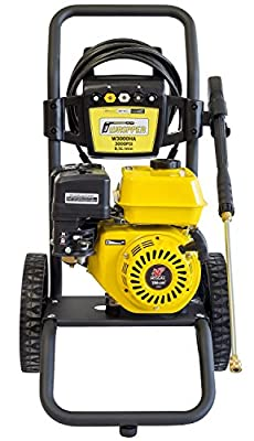 ? Petrol Pressure Washer 3000 PSI ? 196cc Petrol Engine Powered High Pressure Portable Jet Sprayer W3000HA ? Premium Power & Build Quality Car & Patio Cleaner by WASPPER