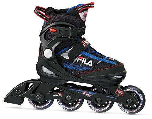 FILA Skates J-One Rollschuhe Unisex Kinder M Schwarz/Blau/Rot