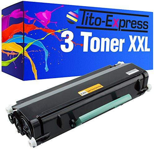 platinumserie 3x Tóner XXL para Lexmark X264Black X364X364DN X364DW