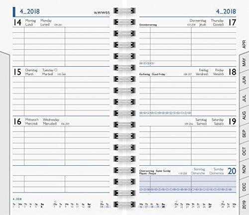 BRUNNEN 1075601 Taschenkalender/Wochen-Sichtkalender Ersatzkalendarium Modell 756 (2 Seiten = 1 Woche, 8,7 x 15,3 cm, Karton-Umschlag, Kalendarium 2020, Wire-O-Bindung)