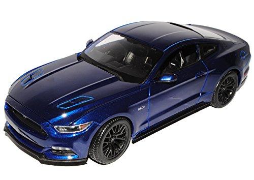 Maisto Ford Mustang VI Coupe Blau Ab 2014 1/18 Modell Auto mit individiuellem Wunschkennzeichen