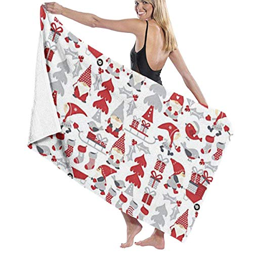 Gebrb Duschtücher/Badetücher,Strandtücher, Microfiber Travel & Beach Towel,Camping Towel, Gym Towel, Sports Towel, Swimming Towel - Gnomes Design Challenge Print 31x51 Inches