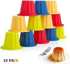 Webake 12 Piezas Moldes Gelatina para Postres Pastel Chocolate Helados Pudines Moldes para Hornear, 4 Colores