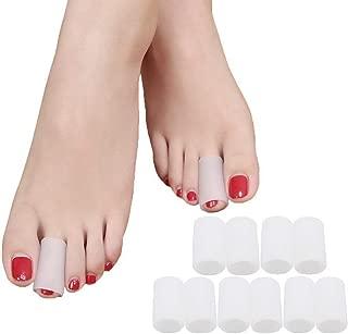 Povihome Toe Sleeves, Toe Protectors, 10 Pack Toe Tube Pads for Hammer Toe,Stubbed Toe,Corns, Calluses Protect