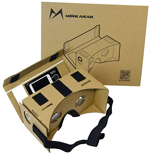 Find Bargain Google Cardboard Kit DIY 3D Glasses by MINKANAK Bigger Lens Virtual Reality Video Viewe...