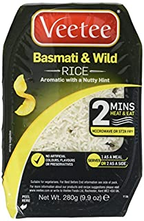 VeeTee - Basmati and Wild Rice - Microwavable, Gluten Free Rice, 280g (Pack of 6) (B0042YIFP2) | Amazon price tracker / tracking, Amazon price history charts, Amazon price watches, Amazon price drop alerts