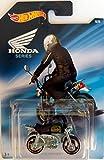 Hot Wheels - Honda Series - Honda Monkey Z50 Mini Bike - Chrome with Black seat and Green Tank - Unique Art Card!