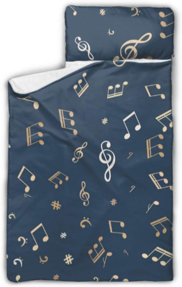 HJSHG Max 58% OFF Kids Sleeping Bag Gold Musical Mat Some reservation Notes Design P with Nap