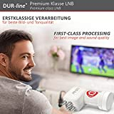 DUR-line +Ultra Quad LNB – 4 Teilnehmer weiß – mit LTE-Filter, 4-Fach, digital mit Wetterschutz, Full HD, 4K,Premium-Qualität - 5
