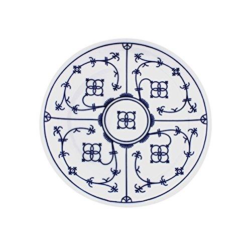 Eschenbach Porzellan Group Tallin Indischblau Teller flach Coup 19 cm, Porzellan, Indigoblau, 01 x 01 x 01 cm